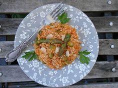 Riz à la tomate, aux épices, aux asperges, and more - La Valkyrie Végétarienne