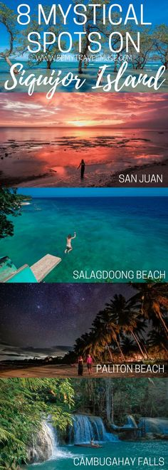 The 8 best spots you HAVE to go when on the mystical Siquijor Island of the Philippines - best beaches, best waterfalls, unique stops, plus tips on where to stay included. What a beautiful paradise! Be My Travel Muse Salagdoong Beach Balete Tree Cam Voyage Philippines, Les Philippines, Philippines Beaches, Philippines Travel, Exotic Beaches, Tropical Beaches, Bohol, Cebu, Amazing Destinations