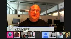 English Google Webmaster Central B&M SMB Site-Clinic office-hours hangout