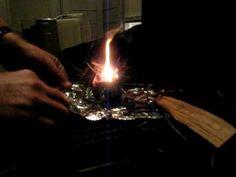 Calcium Carbide Survival Fire - YouTube