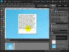 Digital Scrapbook Tutorial: Adjusting Line Spacing in Photoshop Elements