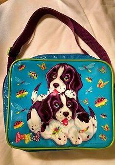 Lisa-Frank-Violet-Velvet-Puppies-Thermal-Lunch-Bag-Box-Vintage