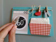 Geburtstag - 60 Geburtstag Geschenk Frau - ein Designerstück von Karten-Werke bei DaWanda