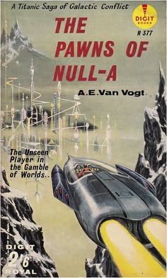 The Pawns of Null-A (1960 edition), A. E. Van Vogt, cover by Ed Emshwiller