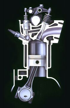 Combustion Engine, Motor Company, Espresso Machine, Cool Pictures, Engineering, Photo Blog, Vintage, Cutaway, Evolution