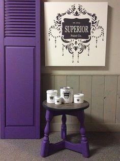 Superior Paint Co. Ultra Violet chalk furniture paint.