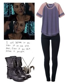 Raven Reyes - The 100 by shadyannon on Polyvore featuring polyvore fashion style prAna STELLA McCARTNEY Steve Madden Origami Jewellery clothing