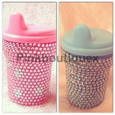bling blue Or Pink Romany Gypsy Rhinestone tommie tippee Beaker Cup