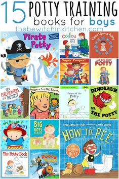 Are you potty training a boy? They say training boys is harder than girls so here are 15 potty training books that make potty training boys easier.