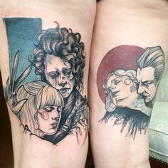 Edward Scissorhands & Dracula Tattoos by Anki Michler