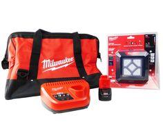 Milwaukee M12 2364-20 Flood Light 48-11-2420 2 Ah Battery 48-59-2401 Charger Bag