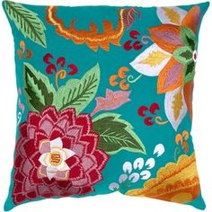 Rose Pillow in Turquoise...I reprint...to many categories!!