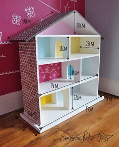 8 prachtige DIY poppenhuizen bouwtekening met afmetingen