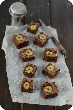 Brownies à la Banane Nutella, Dessert Light, Dessert Original, Gateaux Cake, I Love Chocolate, Biscuits, Muffins, Picnic, Brunch