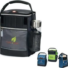 """It's time to go with the """"flow"""" using the 420 denier diamond weave, Igloo (R) Avalanche Cooler as a handout! Includes enhanced insulation, antimicrobial liner, velcro top closure with expandable zippered option and an attachment buckle that easily secures lunch cooler to personal carrying bag. The PVC and phthalate free cooler features side mesh pocket, front zipper pocket, ID window on back and 30% more insulation than standard cooler products!"""