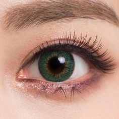 Macaron Green contacts deliver an lush, leafy yellow-green, which is different from most other green circle lenses that are on the cooler blue side. Their high opacity makes them great for Halloween, cosplay events or just anytime you need your eyes to really POP!