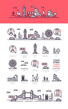 By Miles - Illustration on Behance Cool Art Drawings, Pencil Art Drawings, Easy Drawings, Line Animation, Icon Design, Logo Design, Edgy Teen, Outline Illustration, City Icon