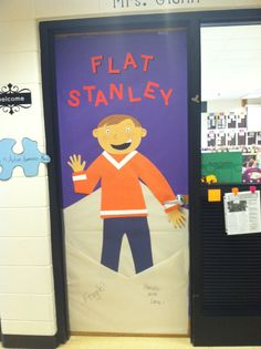 Flat Stanley classroom door- We are totally doing this straight from the beginning of the school year. School wide with families in the school