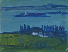 Albert Pfister  Blick auf den oberen Zürichsee (Ufenau/Lützelau) Painting, Switzerland, Auction, Painting Art, Kunst, Paintings, Painted Canvas, Drawings