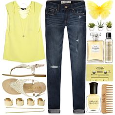 #207 Yellow, created by berina-2000 on Polyvore