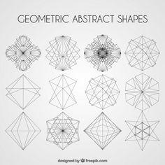 Formas abstratas geométricas embalar Vetor grátis                                                                                                                                                                                 Mais