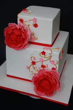 beautiful cake.  I love its simplicity!