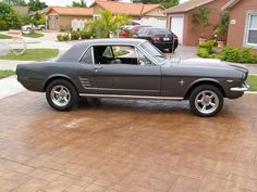 my first car 1966 Mustang, gun metal gray