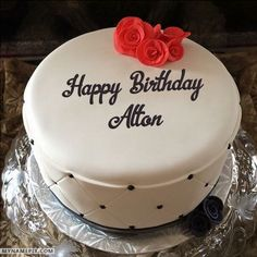 The name [alton] is generated on Simple Elegant Birthday Cake With Name image. Download and share Birthday Cake With Name images and impress your friends.