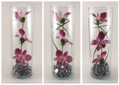 The Preserved Orchid centerpieces I made for our wedding.