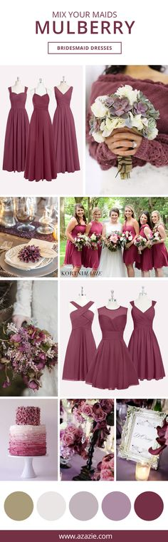 Attention Autumn brides! This beloved Mulberry is quite the popular shade for any Autumn themed wedding. Into the latest trends? Mix-and-match this classy shades of red by having your bridesmaids choose from 150+ of our dresses. Shopping for the perfect bridesmaid dress has never been more affordable either- all dresses are $150 or less!