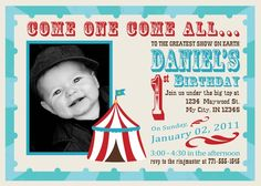 Carnival or Circus Birthday Invitation  Come by InvitingPrintables, $15.00
