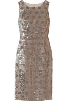 Oscar de la Renta Polka-dot sequined silk dress | NET-A-PORTER