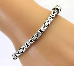 Bali Style Chunky Sterling Silver Bracelet