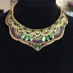 #necklace #beads #beadedart #handmade #handcraft #handmadejewelry #jewelry #statementnecklace #beadpanache