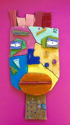 À la manière de Kimmy Cantrell  5ème année Carnival Crafts, Cardboard Art, Collaborative Art, Tree Branches, Picasso, Art Lessons, Art Projects, Art Pieces, Collage