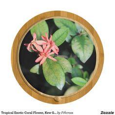 Tropical Exotic Coral Flower, Kew Gar Cheese Board