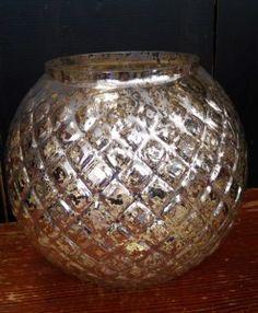 Windlicht Bauernsilber Glas