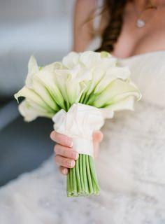 Calla Lillies wedding bouquet