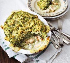 Puffed salmon & spinach fish pie | BBC Good Food