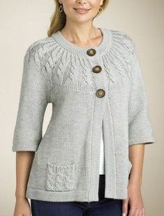 Diy Crafts - Find and save knitting and crochet schemas, simple recipes, and other ideas collected with love. Cardigan Pattern, Crochet Cardigan, Knit Crochet, Baby Knitting Patterns, Knitting Designs, Diy Crafts Knitting, Baby Pullover, Knitwear, Clothes