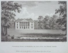 Print - Gunnersbury House, in Middlesex, the Seat of the Late Princess Amelia. -