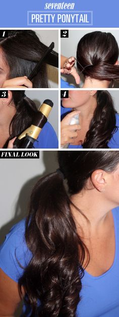 Curled Ponytail How To - Ponytail Tutorial - Seventeen
