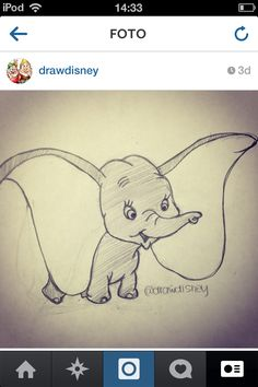 how to draw dumbo tutorial