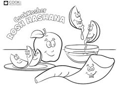 Rosh Hashana Coloring Pages - Fun and free