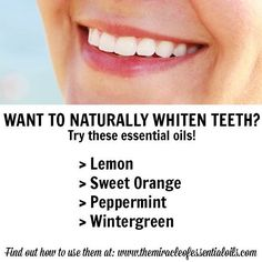 essential oils for teeth whitening