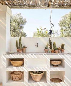 Shabby Chic Style, Shabby Chic Decor, Boho Decor, Rustic Chic, Küchen Design, House Design, White Wall Bedroom, Boho Kitchen, Industrial Living