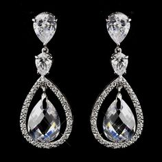 Dazzle in these Crystal and Rhinestone Wedding Earrings!