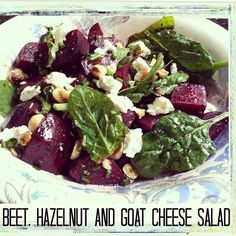 Roasted beet salad #PrimalBliss.  Beets are so healthy for you and full of good nutrients. Good healing food!
