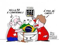 Lula e Dilma 13... Tecla 13 e confirma