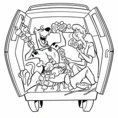 mystery machine coloring pages scooby and shaggy making bbq coloring pages